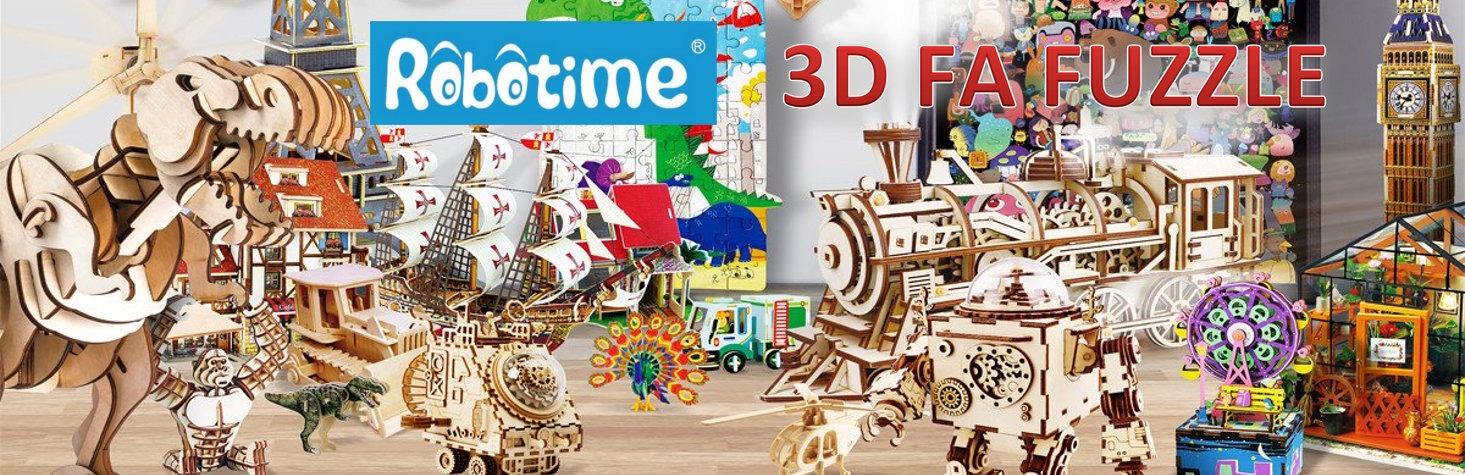 Robotime 3D fa puzzle-ök