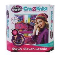 Cra-Z-Knitz Trendi Csajszi Pöndörödő sapi készlet - 03005