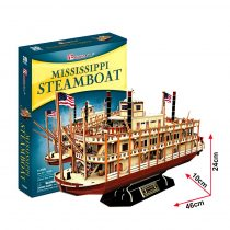 3D-s puzzle, Mississippi steamboat, gőzhajó - 20880