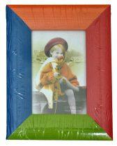 Fotókeret, fa, színes 9 x 13 cm - 32725