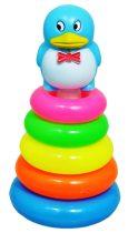 Toronyépítő játék, pingvines - 48193