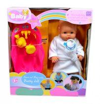 Elemes baba + kiegészítők dobozban - 48211