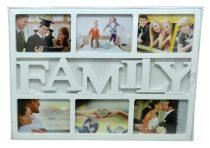 Fotókeret, 6 db képnek, Family vagy Love - 70617