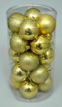 Karácsonyi gömb, 6 cm, 20 db, arany - 70833