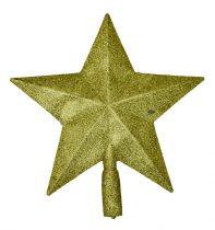 Karácsonyfa csúcsdísz, csillag, arany - 70858