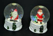 Havazógömb karácsonyi, világító, 8 cm - 70892