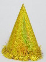 Csúcsos kalap, papír, 24 cm - 71083