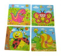 Fa puzzle, 9 db-os, állatos - 71342