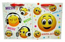 Papírtasak - smiley - 18 x 23 x 8 cm - 71627