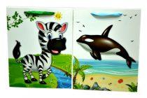 Papírtasak - állatfigurás - 18 x 23 x 8 cm - 71647