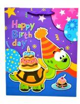 Papírtasak - happy birthday - 18 x 23 x 8 cm - 71649