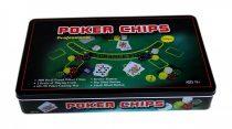 Póker szett - professzionális - 300 db-os - fémdobozban - 71713