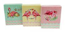 Fotóalbum - 10 x 15 cm - 40 képes - rózsaszín flamingós - 71817