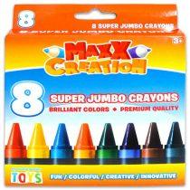 Maxx Creation - szuper tömzsi zsírkréta csomag - 8 db - 01296