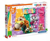 Clementoni puzzle csomag - 44 cicus - 104 darabos - 01939