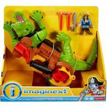 Imaginext játékszett - krokodil és Hook kapitány - 01975
