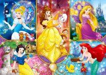 Clementoni puzzle csomag - Disney Hercegnők - 104 darabos - 02122