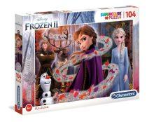 Clementoni puzzle csomag - Jégvarázs 2 - 104 darabos - csillagos - 02125