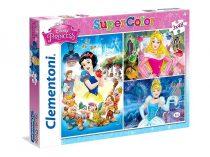 Clementoni puzzle csomag - Disney Hercegnők - 3 x 48 darabos - 02130