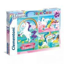 Clementoni puzzle csomag - Unikornis - 3 x 48 darabos - 02131