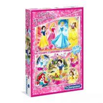 Clementoni puzzle csomag - Disney Hercegnők - 2 x 60 darabos - 02138