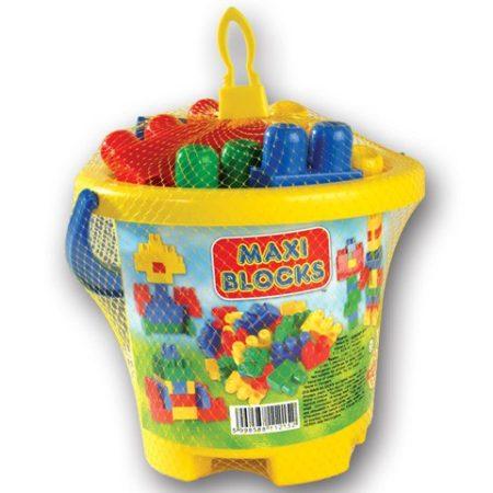 Maxi Blocks építőkockák, vödrös - 02803