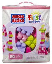 Mega Bloks: 60 db lányos építőkocka táskában - 03442