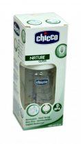 Chicco Well-Being - Nature Glass - cumisüveg - 150 ml - 1 lyukú - szilikon normál folyású cumival - 04000
