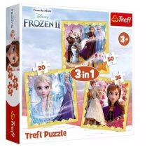 Trefl puzzle, Jégvarázs 2: Anna és Elza ereje 3 az 1-ben - 07723