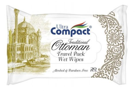 Ultra Compact 20 darabos úti nedves univerzális törlőkendő, Ottoman Pearl White - 11521