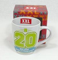 Bögre - évszámos - 20, boldog születésnapot felirat - 14110