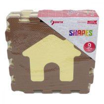Ház és autó 9 darabos habszivacs szőnyeg puzzle - 16239