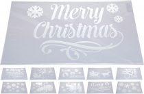 Karácsonyi stencil / sablon - 19230