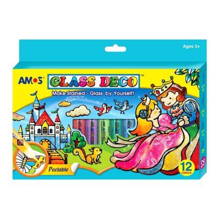 Üvegfesték dekorációs szett - király és királylány képek - 20817