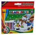 Amos üvegfesték készlet, karácsonyi - 20846