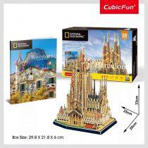 3D puzzle város - Barcelona - Szent Család templom kirakós csomag - 20877