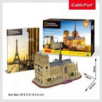 3D puzzle város - Párizs - Notre Dame kirakós csomag - 20878