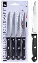 Hússzeletelő kés szett lapon - 4 db-os - 21148