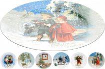 Műanyag tányér - karácsonyi - 33 cm - 21240
