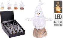 Karácsonyi világító figurák - LED-es - 8 cm - elemes - 21259