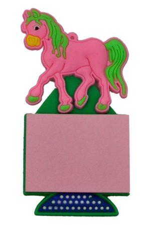 Hűtőmágnes, lovacska + jegyzettömb - 32617