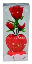 Valentin napi ajándék, szív+virág - 32622