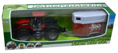 Traktor, állatszállító pótkocsival - 47011