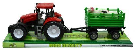 Traktor, állatszállító pótkocsival - 47017