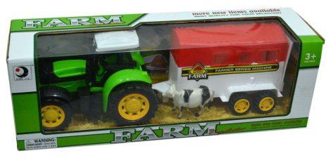 Traktor, állatszállító pótkocsival - 47045