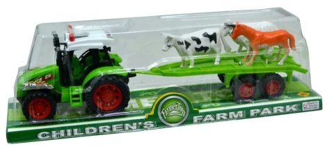 Traktor, állatszállító pótkocsival - 47129