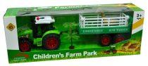 Traktor, állatszállító pótkocsival - 47134