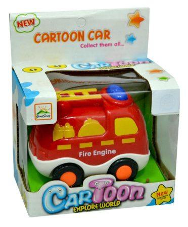 Autó - tűzoltóautó felhúzható - 47707