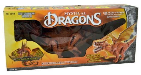 Dinoszaurusz, elemes, dobozban - 47829