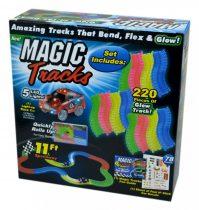 Magic Tracks autópálya világító kisautóval - 47915